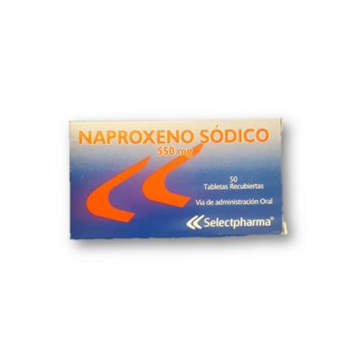 Naproxeno Sodico 550mg 50 Tabletas