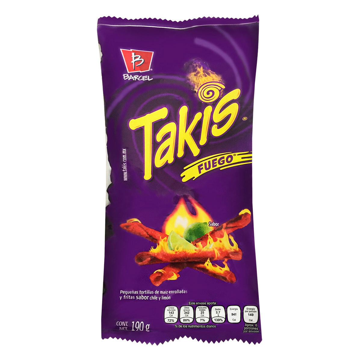 Takis Barcel Fuego 190gr