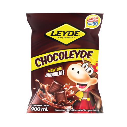 Leche Chocolate ChocoLeyde en Bolsa, Larga Duracion 900ml.