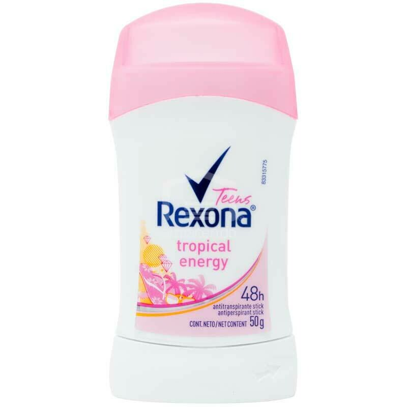 Desodorante Rexona Teens Barra Antitranspirante Tropical Energy 50gr