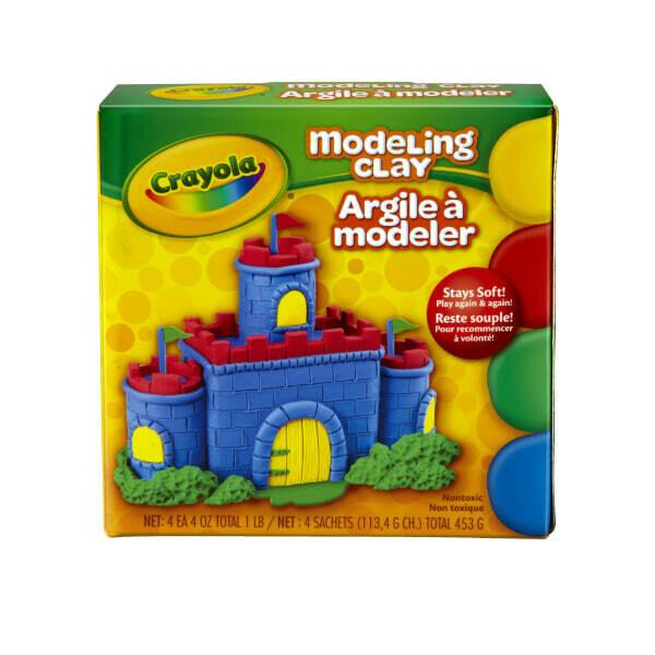 Plasticina Crayola en Barra 4 Colores 453gr