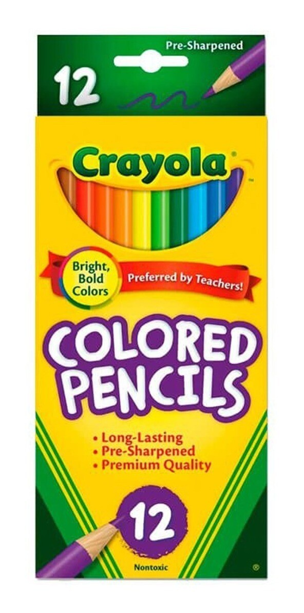 Lapices de Color Crayola Largos 12 unidades