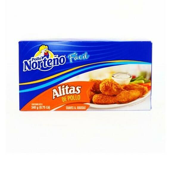 Alitas de Pollo 340gr (0.75Lb) Pollo Norteño