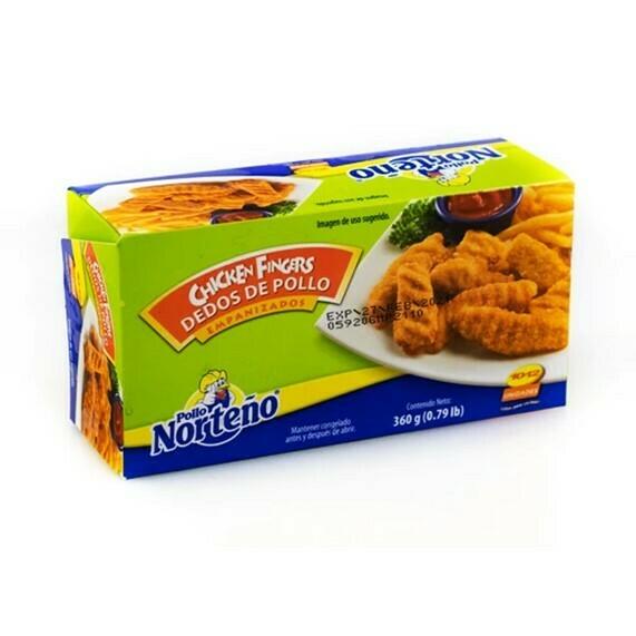 Chicken Fingers de Pollo Empanizados 360gr Pollo Norteño