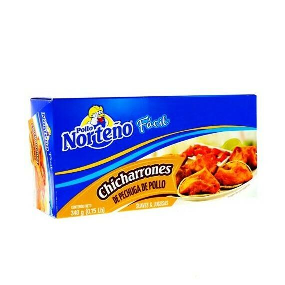Chicharrones de Pechuga de Pollo 340gr (0.75Lb) Pollo Norteño