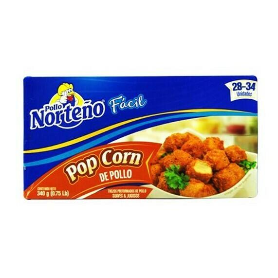 Pop Corn de Pollo 340gr (0.75Lb) Pollo Norteño 28-34 unidades