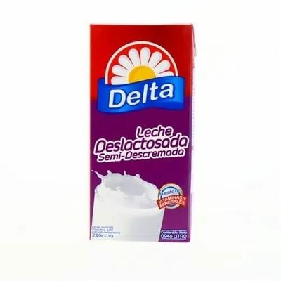 Leche Delta Deslactosada Semidescremada UHT 0.946 Litros