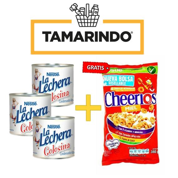 Promoción 3 Leches Condensadas La Lechera de 100gr + Cereal Cheerios 380 gr Gratis