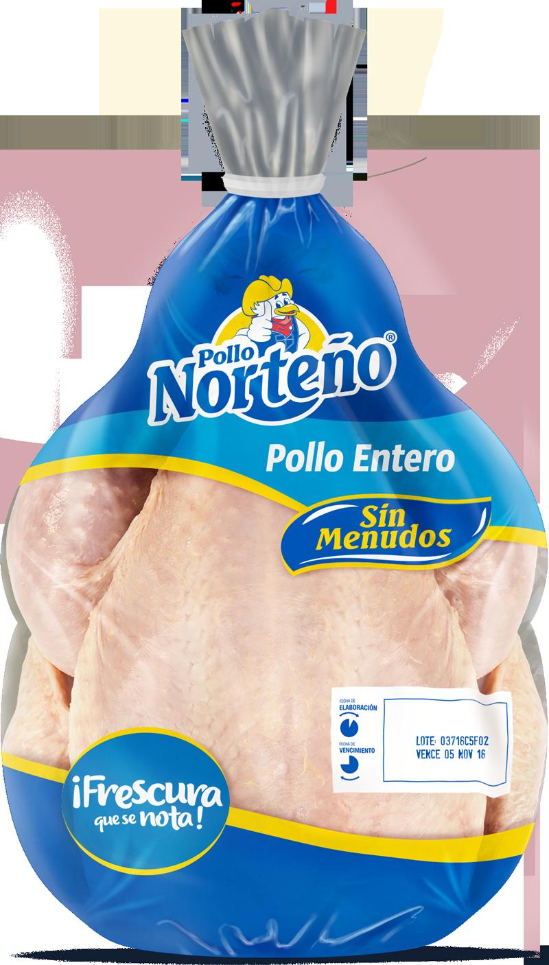 Pollo Entero Limpio sin Menudo Azul Pollo Norteño 6 Lbs (Congelado)