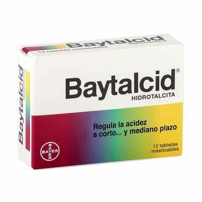Baytalcid Hidrotalcita Antiacido Caja 12 Tabletas Masticables
