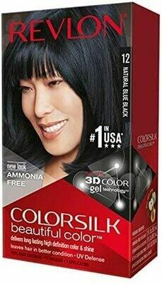 Tinte de Pelo Revlon Colorsilk Negro Azulado 12