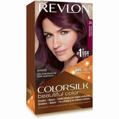 Tinte de Pelo Revlon Colorsilk Borgona Oscuro 34