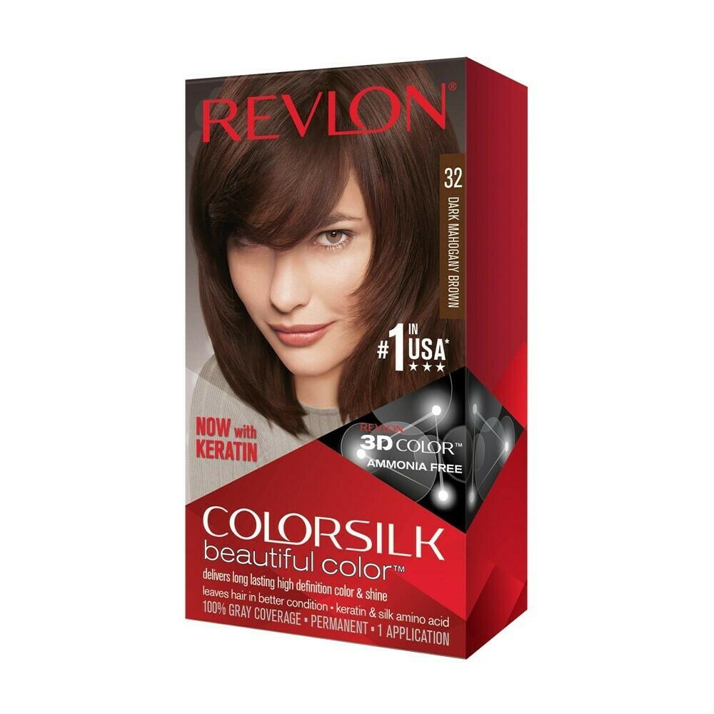 Tinte de Pelo Revlon Colorsilk Castaño Oscuro Caoba 32