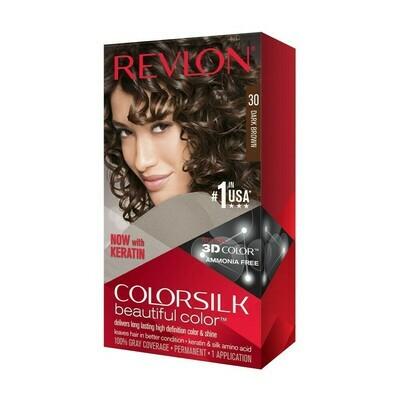 Tinte de Pelo Revlon Colorsilk Castaño Oscuro 30
