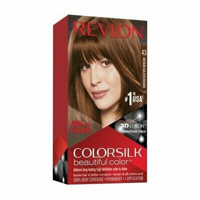 Tinte de Pelo Revlon Colorsilk Castaño Medio Dorado 43