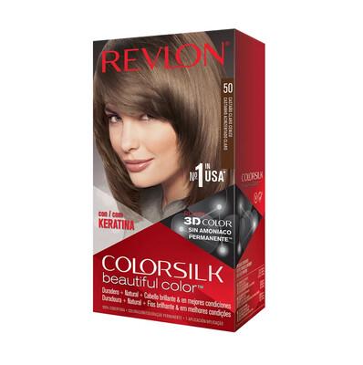 Tinte de Pelo Revlon Colorsilk Castaño Claro Cenizo 50