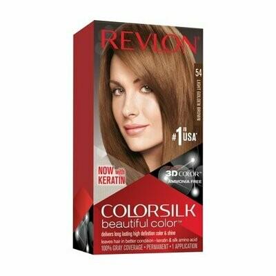 Tinte de Pelo Revlon Colorsilk Castaño Claro Dorado 54