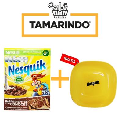 Promoción Nesquik Cereal Chocolate 720gr + Plato plastico Gratis