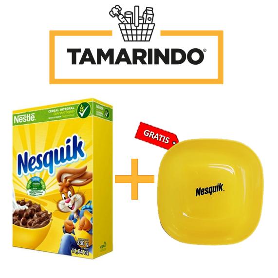 Promoción Nesquik Cereal 330gr + Plato plastico Gratis