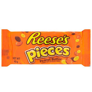 Reeses Pieces Peanut Butter Candy Crunchy Shell 43gr