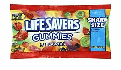 Life Savers 5 Flavors Gummies Share Size 119gr