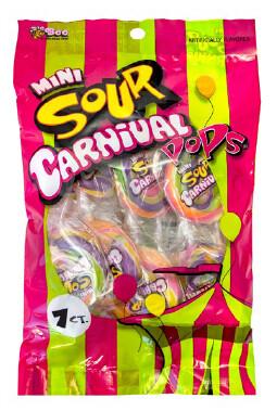 Mini Sour Carnival Pops 82gr