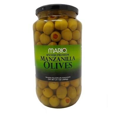 Aceitunas de Manzanilla Mario Premium 21oz