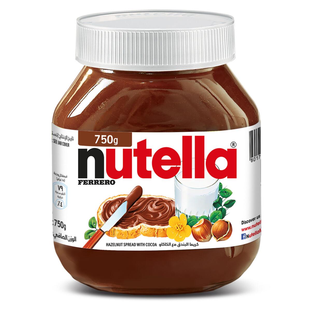 Nutella Ferrero Hazelnut Spread with Cocoa 750gr