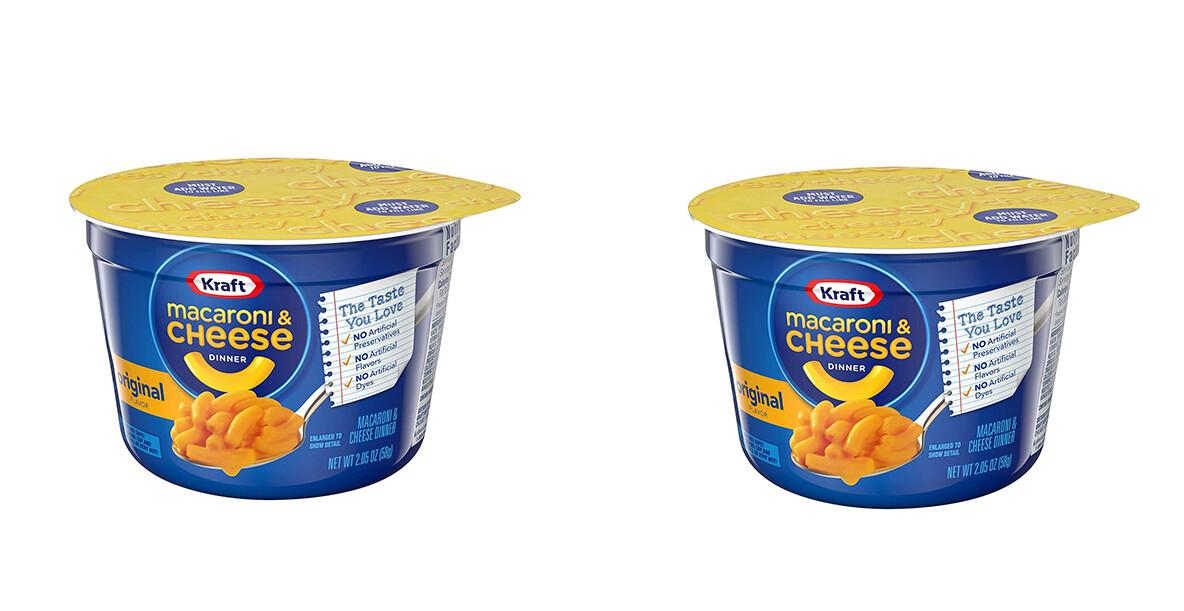 Macaroni & Cheese Kraft Original Taza 58gr  2Pack