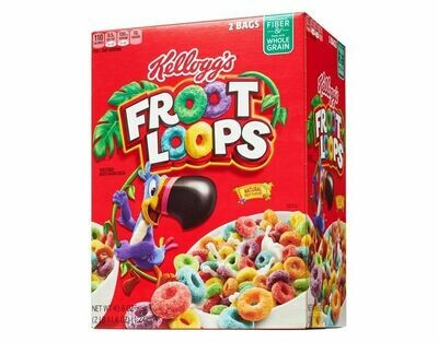 Kelloggs Froot Loops Natural Cereal 1.24Kg  2Pack