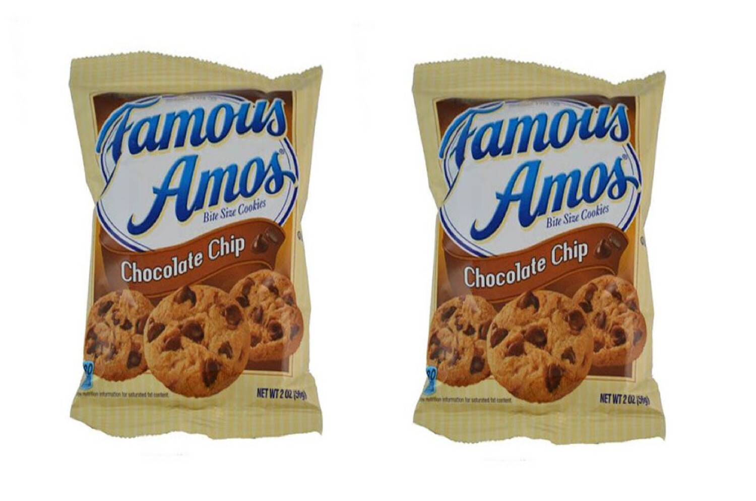 Galletas Famous Amos Bite Size Cookies Chocolate Chip 56gr  2Pack