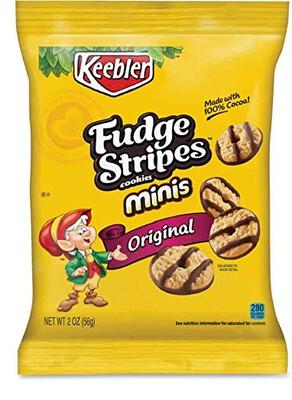 Galletas Keebler Fudge Stripes Minis Original Cookies 56gr
