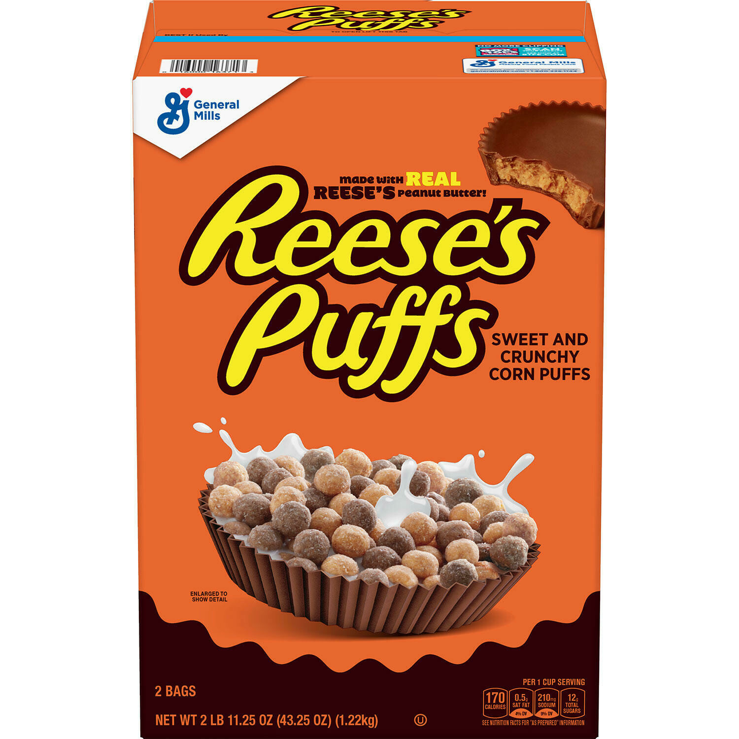 Reeses Puffs Cereal 1.22Kg  2Pack