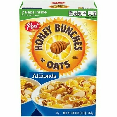 Honey Bunches of Oats Almonds Cereal 1.36Kg  2Pack