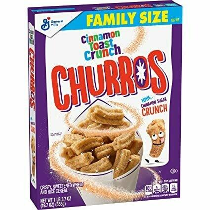 Churros Cinnamon Toast Crunch Cereal Family Size 558gr