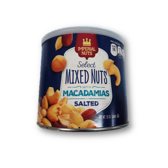 Imperial Nuts Select Mixed Nuts Macadamias 340gr