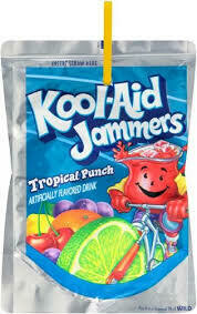 Jugo de Ponche Tropical Kool-Aid Jammers Tropical Punch 5Pack