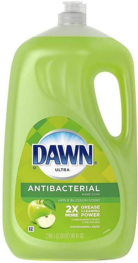 Lavaplatos Liquido Dawn Ultra Antibacterial 2X Quita Grasa 2.66L
