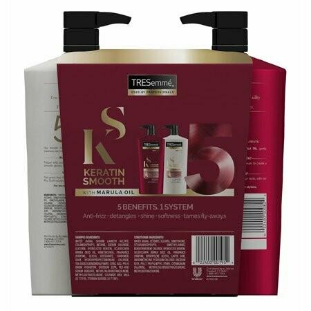 Shampoo y Acondicionador Tresemme Keratina Suave 828ml  2Pack