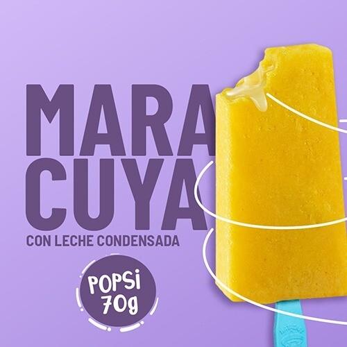 Paleta de Maracuya Rellena de Leche Condensada Mini (YUCATAN)