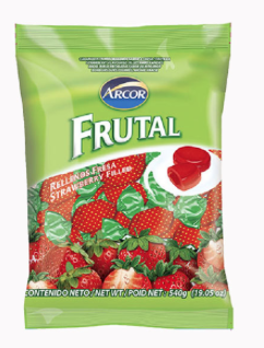 Confite Arcor Frutal Rellenos de Fresa 540gr (19.5oz)
