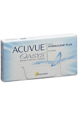 Lentes de Contacto Acuvue Oasys 6 Lentes Negativo -6.00