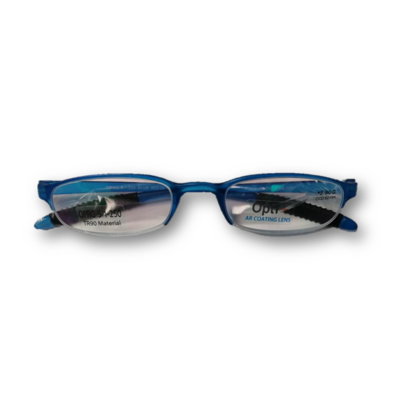 Lentes de Lectura Opti + OPRG 5-1-250 BLUE HALF RIM  POWER: +250