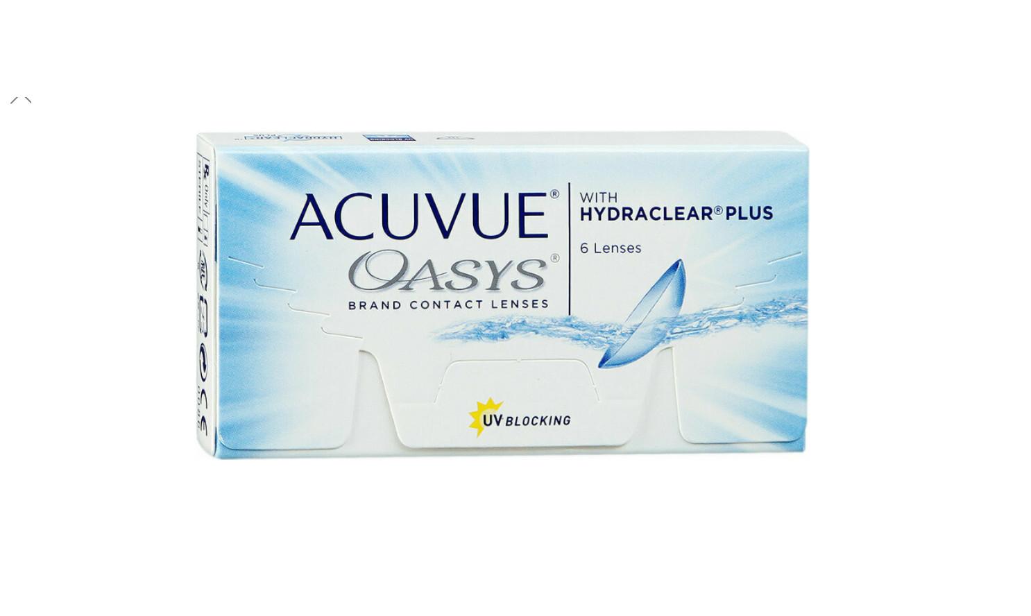 Lentes de Contacto Acuvue Oasys 6 Lentes Negativo -4.00