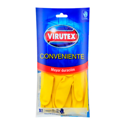 Guantes Virutex Conveniente Mediano #8  1 Par