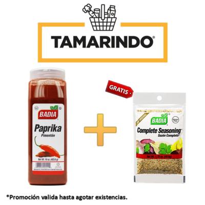 Promoción Paprika Badia 16 oz + Sazon Completo Badia 49.6 gr Gratis