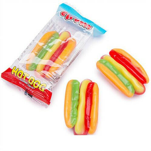 Efrutti Hot Dog Gummi Candy 9gr  10Pack