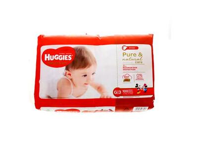 Pañales Huggies Natural Care G/3  100 Unidades