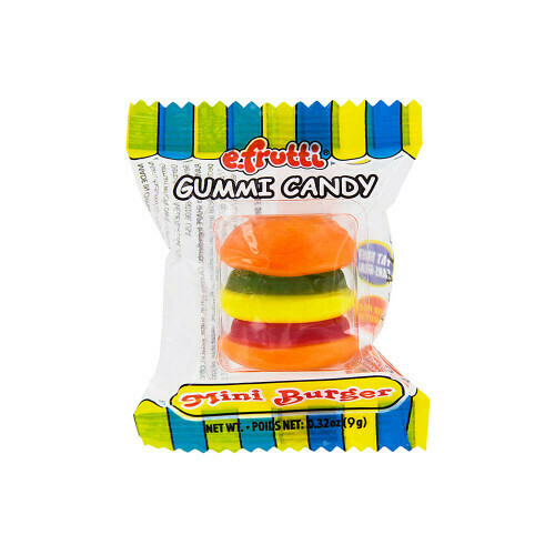 Efrutti Mini Burger Candy 9gr  10Pack