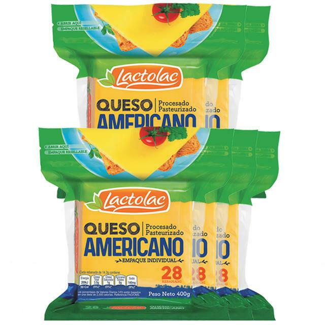 Queso Lactolac Procesado Amarillo 200gr